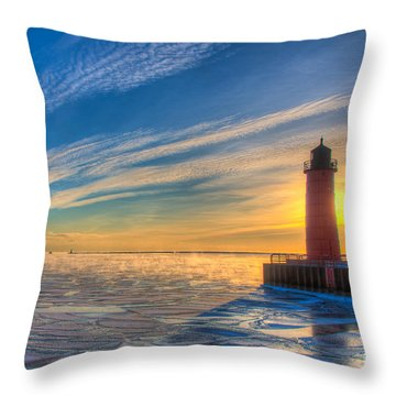 Sunrise Pierhead Throw Pillow
