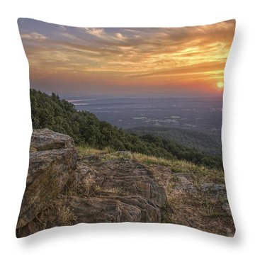 Sunrise Point From Mt. Nebo - Arkansas Throw Pillow