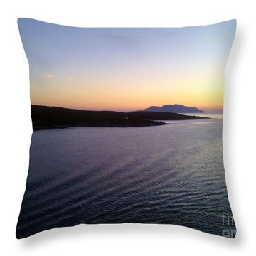 Throw Pillow featuring the photograph Sunrise by Ramona Matei