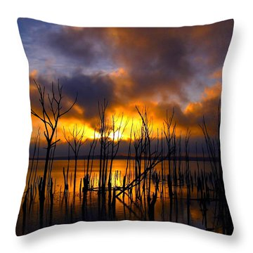 Throw Pillow featuring the photograph Sunrise by Raymond Salani III
