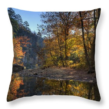 Sunrise Reflection Below Kyles Landing Throw Pillow