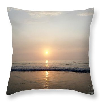 Sunrise Reflection Shines Upon The Atlantic Throw Pillow