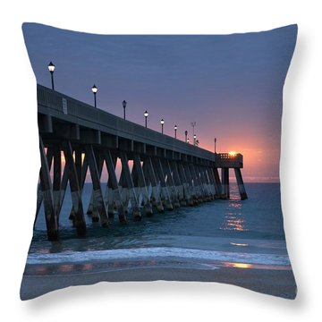 Sunrise Reflections Throw Pillow by Bob Sample