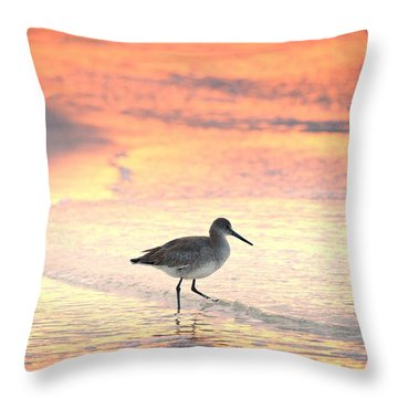 Sunrise Shorebird Throw Pillow