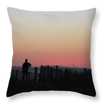 Sunrise Silhouette Throw Pillow by Robert Banach