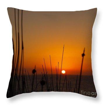 Throw Pillow featuring the photograph Sunrise Silhouette by Trena Mara
