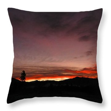 Throw Pillow featuring the photograph Sunrise Silhouettes by Julia Hassett