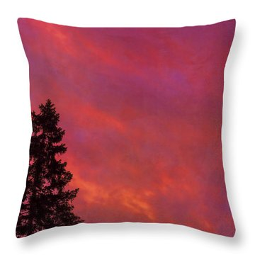 Throw Pillow featuring the photograph Sunrise Sky by Tom Singleton