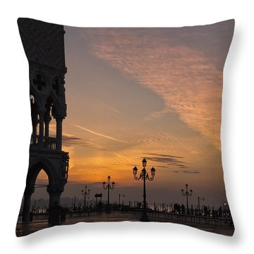 Sunrise St Mark's Square Throw Pillow by Marion Galt