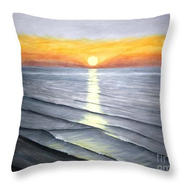 Sunrise Throw Pillow by Stacy C Bottoms