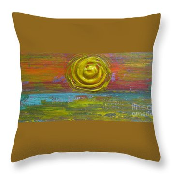 Sunrise Sunset 1 Throw Pillow by Jacqueline Athmann