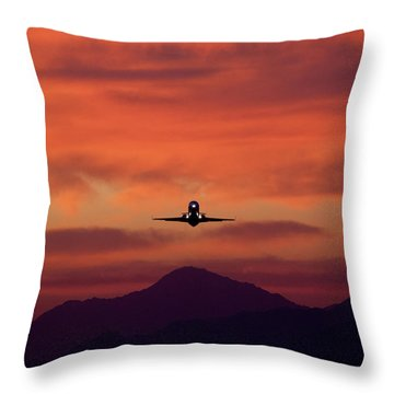 Sunrise Takeoff Throw Pillow