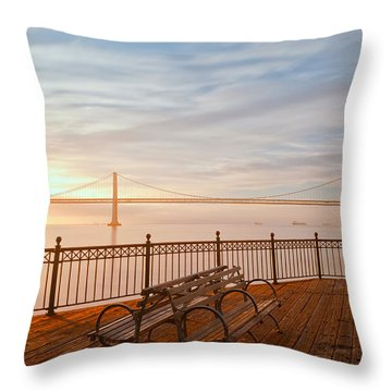 Throw Pillow featuring the photograph Sunrise To The Bay by Jonathan Nguyen
