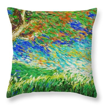 The War Of Wind And Sun Throw Pillow