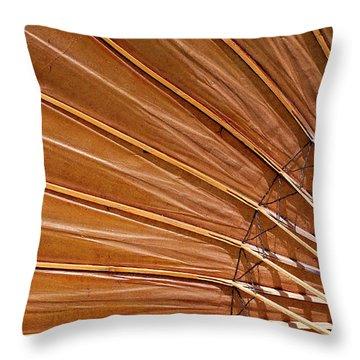 Throw Pillow featuring the photograph Sunrise Umbrella by Glenn DiPaola