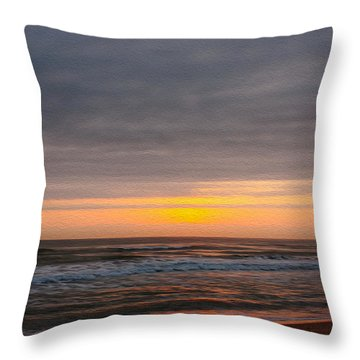 Sunrise Under The Clouds Throw Pillow