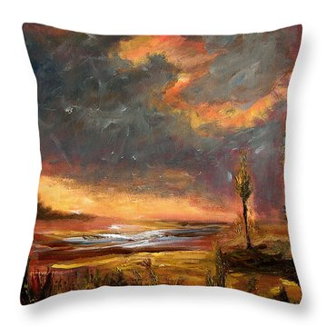 Sunrise With Birds  Throw Pillow
