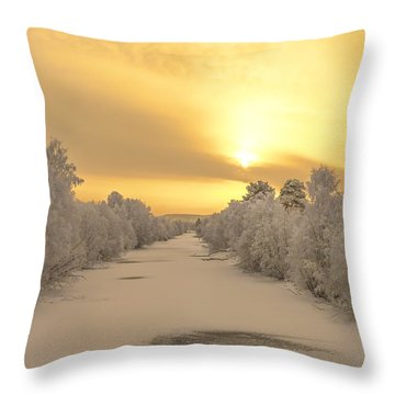 Sunrise With Joy Throw Pillow