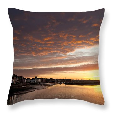Sunrise Wivenhoe Throw Pillow by David Davies