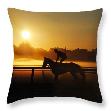 Sunrise Workout Throw Pillow