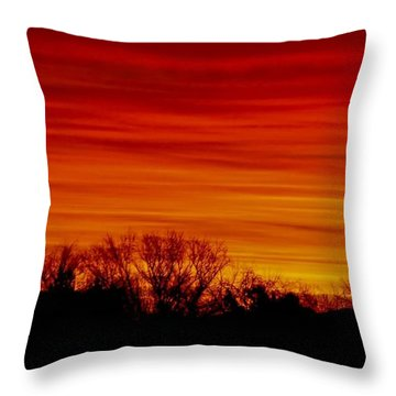 Throw Pillow featuring the photograph Sunrise Y-town by Angela J Wright