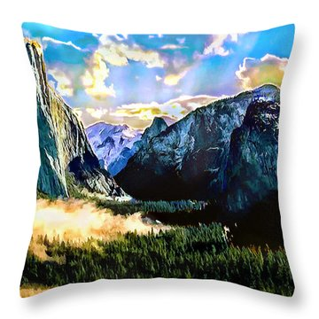 Sunrise Yosemite Valley Nationalpark Throw Pillow