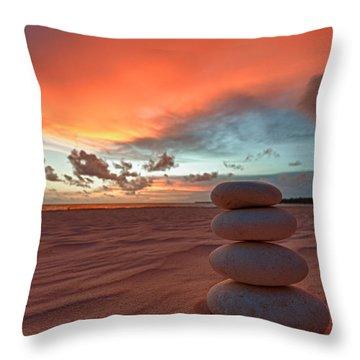 Throw Pillow featuring the photograph Sunrise Zen by Sebastian Musial