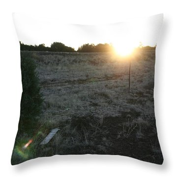 Throw Pillow featuring the photograph Sunrize by David S Reynolds