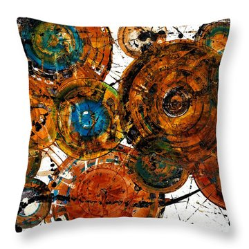 Throw Pillow featuring the painting Sunset - 1274.121412 by Kris Haas