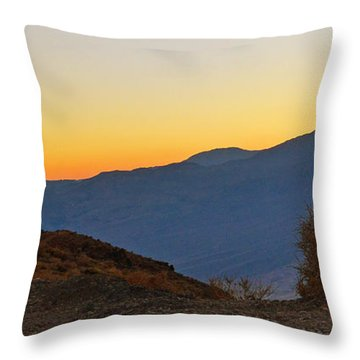 Throw Pillow featuring the photograph Sunset - Death Valley by Dana Sohr