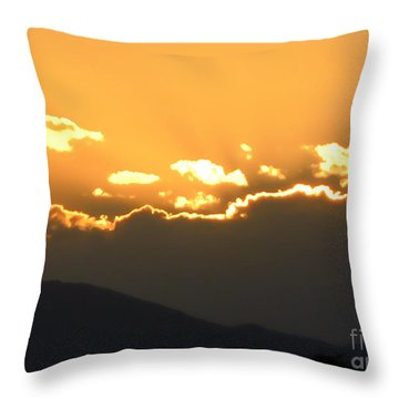 Throw Pillow featuring the photograph Sunset 3 by Ze  Di