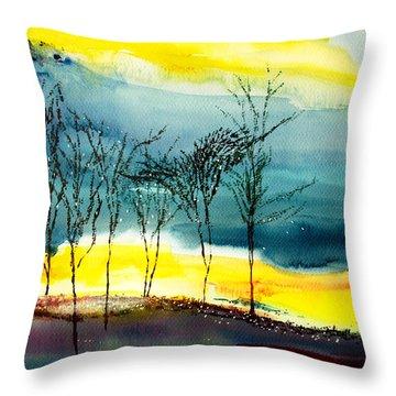 Sunset 3 Throw Pillow by Anil Nene