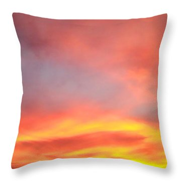 Throw Pillow featuring the photograph Sunset 4 by Ze  Di