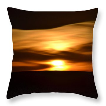 Throw Pillow featuring the photograph Sunset Abstract I by Nadalyn Larsen