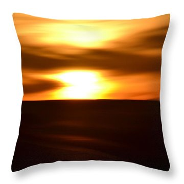 Throw Pillow featuring the photograph Sunset Abstract II by Nadalyn Larsen