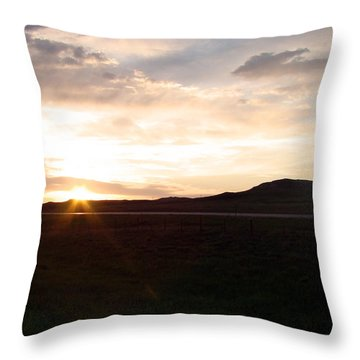 Throw Pillow featuring the photograph Sunset Across I 90 by Cathy Anderson