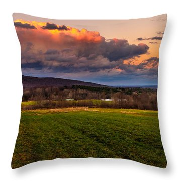 Sunset After The Storm Throw Pillow