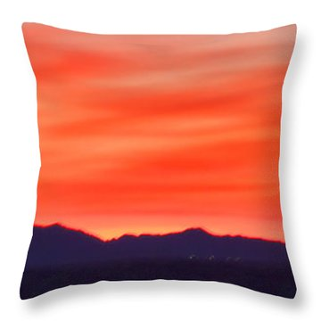 Throw Pillow featuring the photograph Sunset Algodones Dunes by Hugh Smith
