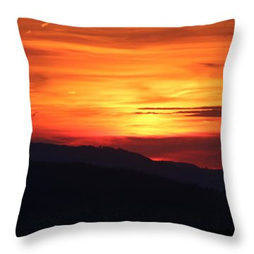 Sunset Throw Pillow by Amanda Mohler