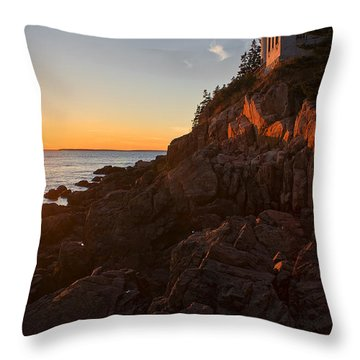 Throw Pillow featuring the photograph Sunset At Bass Head   by Priscilla Burgers