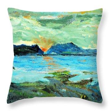 Sunset At Bic Throw Pillow