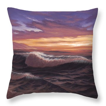 Sunset At Big Sur Throw Pillow