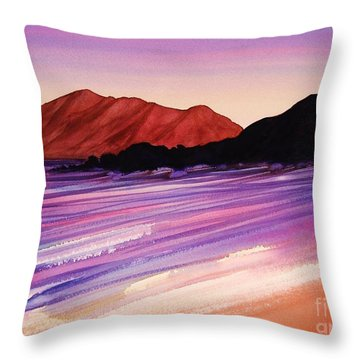 Sunset At Black Rock Maui Throw Pillow