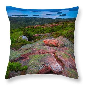 Sunset At Cadillac Mountain Throw Pillow