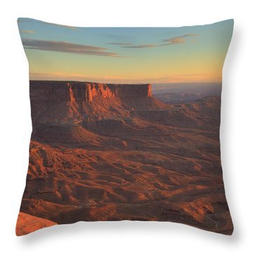 Throw Pillow featuring the photograph Sunset At Canyonlands by Alan Vance Ley