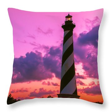 Sunset At Cape Hatteras Vertical  Throw Pillow by Nick Zelinsky
