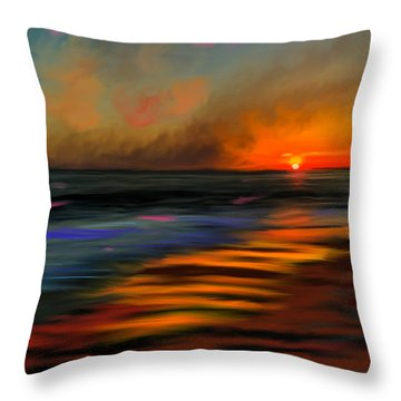 Sunset At Capo Beach In California Throw Pillow by Angela A Stanton