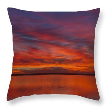 Sunset At Cheyenne Bottoms 1 Throw Pillow