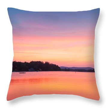 Sunset At Chickawaukee Lake II Throw Pillow by Ernest Puglisi