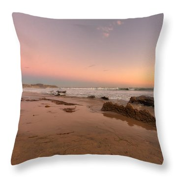 Sunset At Crystal Cove Hdr Throw Pillow by Angela A Stanton